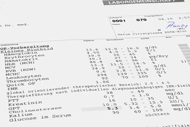 Eisenmangel und Blutwerte