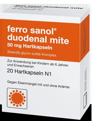 Packung Ferro Sanol comp Hartkapseln Eisen Eisenmangel