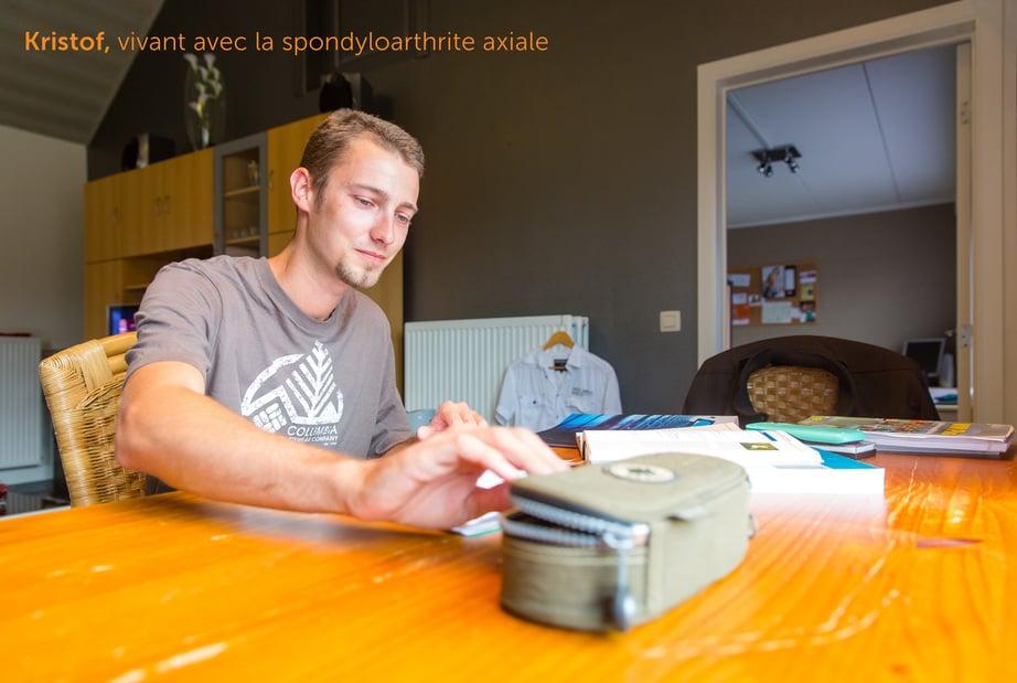 Kristof, vivant avec la spondyloarthrite axiale